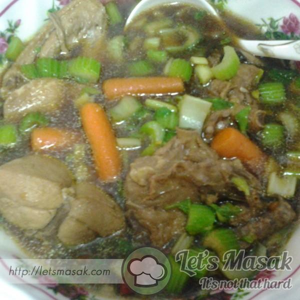 Sup Sayur Ayam Kicap