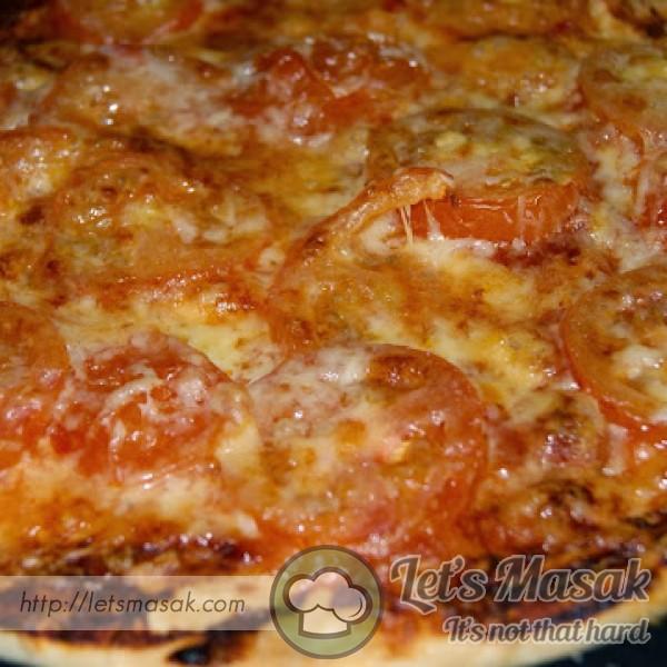 Pizza Tomato Cheddar (Tanpa Yeast)