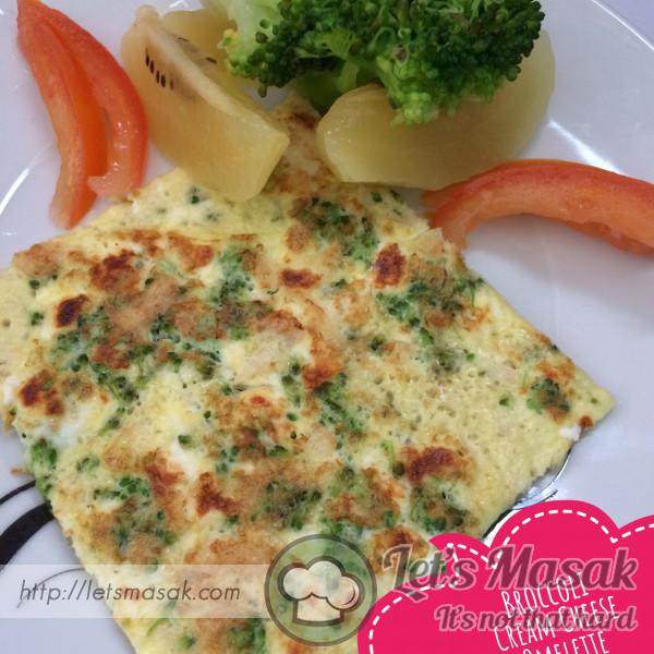 Omelete Keju Ayam Brokoli