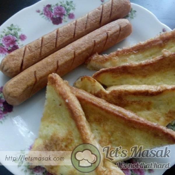 Roti Telur Dan Sosej