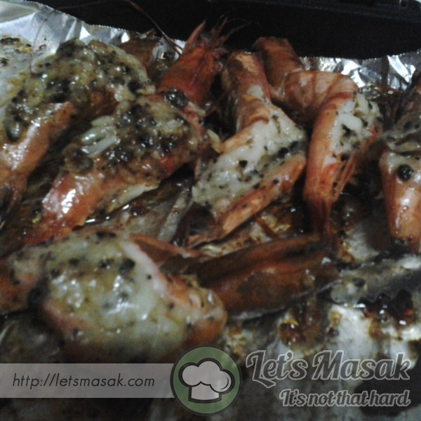 Grill Garlic Butter Cheese Prawn