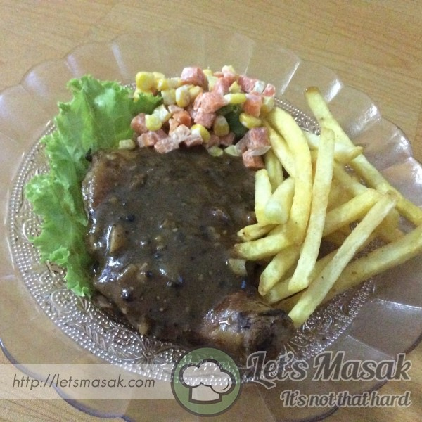 Grilled Chicken Chop With Blackpepper Sauce