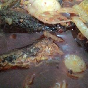 Ikan Sardin Goreng Asam