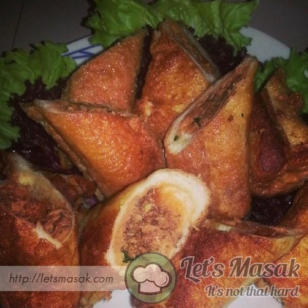 Roti Sardin Gulung