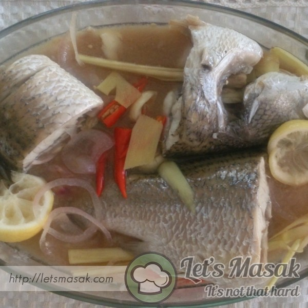 Steam Cooked Sea Bass