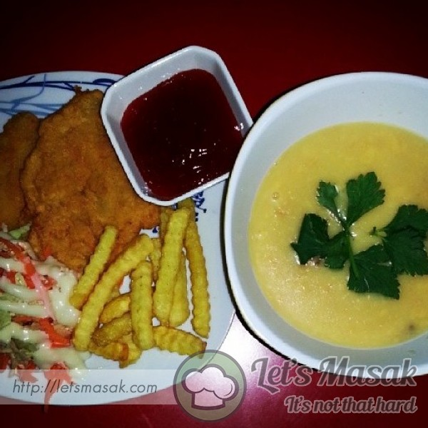 Fish & Chip With Chicken Soup