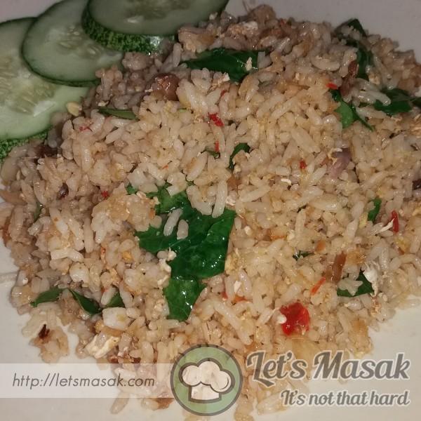 Nasi Goreng Ikan Gelama Masam